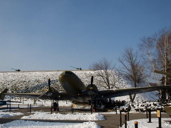 Russian armaments in museum in winter 20
