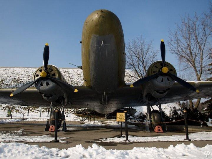 Russian armaments in museum in winter 21