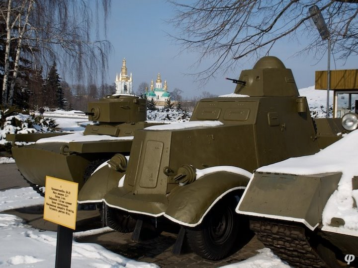 Russian armaments in museum in winter 24