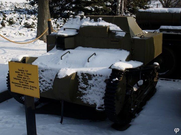 Russian armaments in museum in winter 25