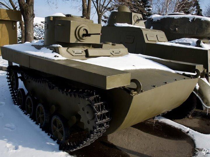 Russian armaments in museum in winter 26