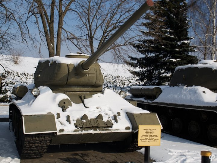 Russian armaments in museum in winter 27