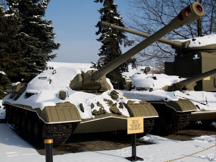 Russian armaments in museum in winter 28