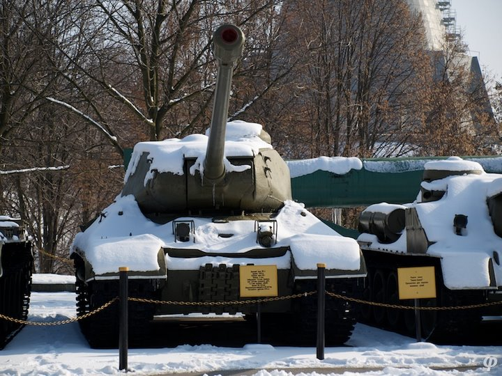 Russian armaments in museum in winter 29