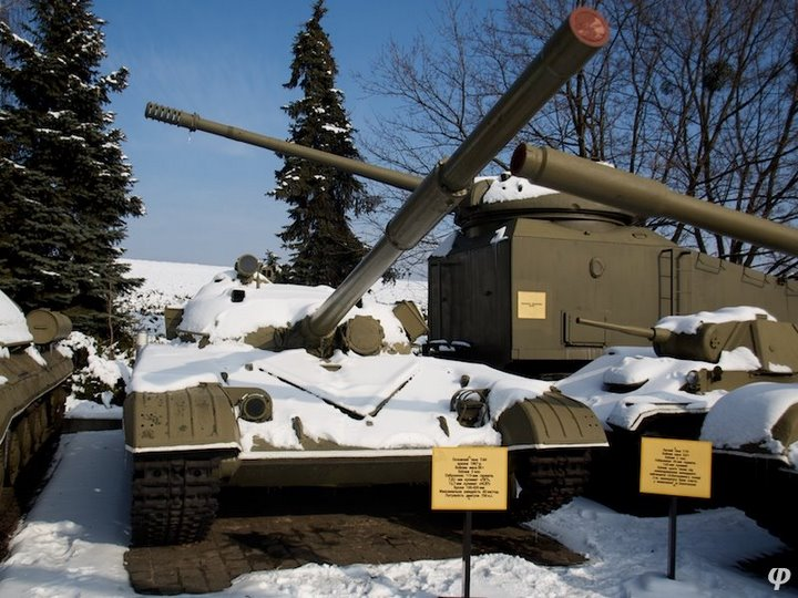 Russian armaments in museum in winter 30
