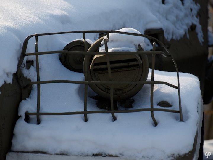 Russian armaments in museum in winter 31