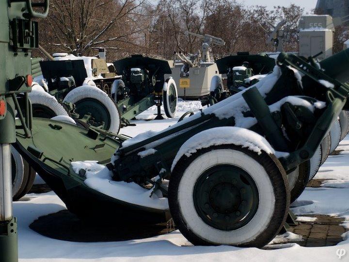 Russian armaments in museum in winter 32