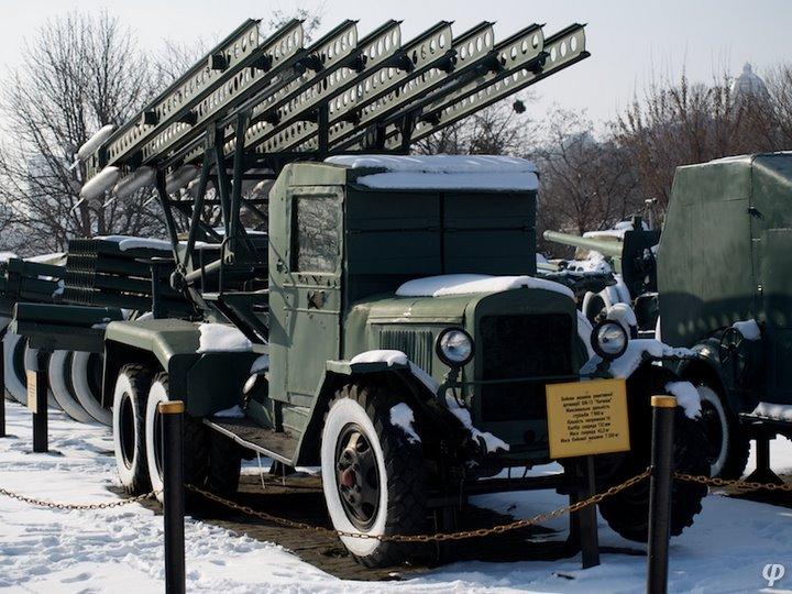 Russian armaments in museum in winter 34