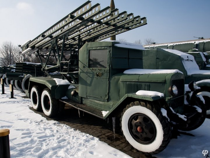 Russian armaments in museum in winter 36
