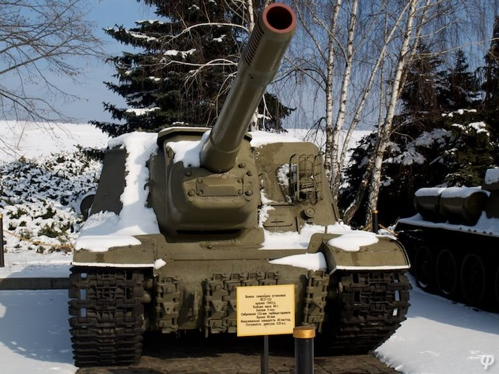 Russian armaments in museum in winter 37
