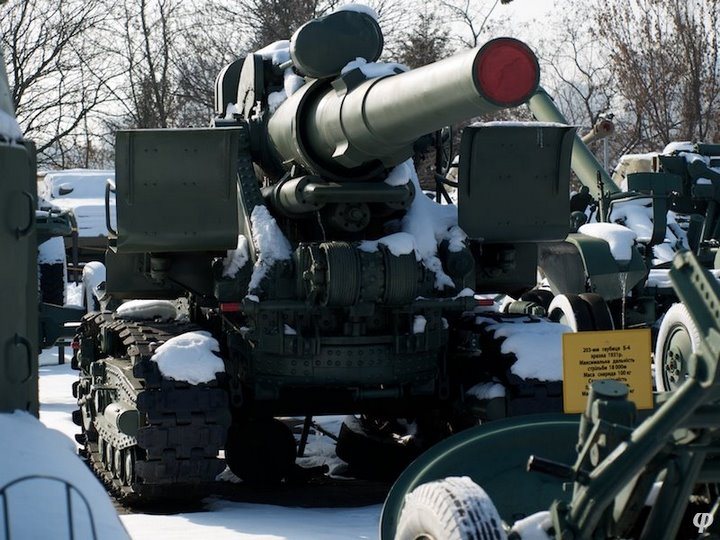 Russian armaments in museum in winter 39