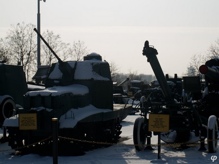 Russian armaments in museum in winter 42