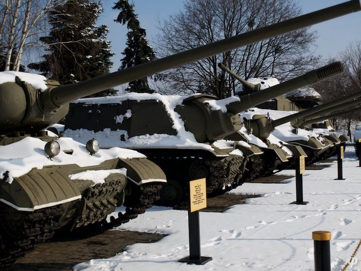 Russian armaments in museum in winter 43