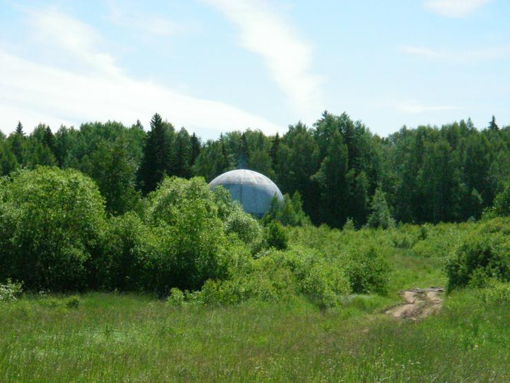 strange ball inside woods in Russia 2