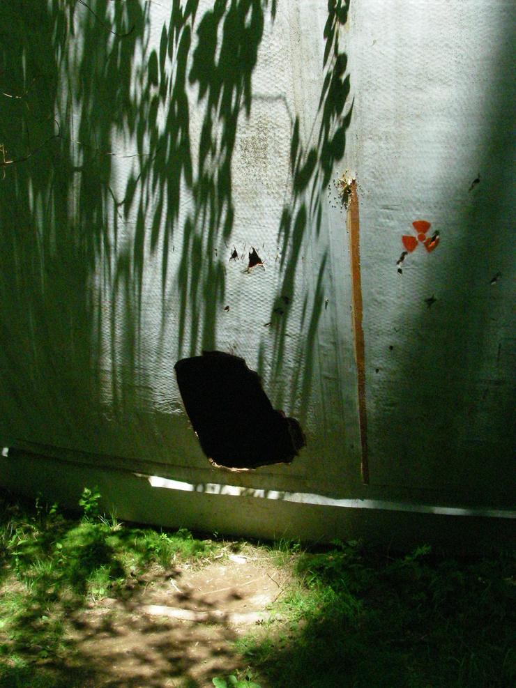 strange ball inside woods in Russia 5