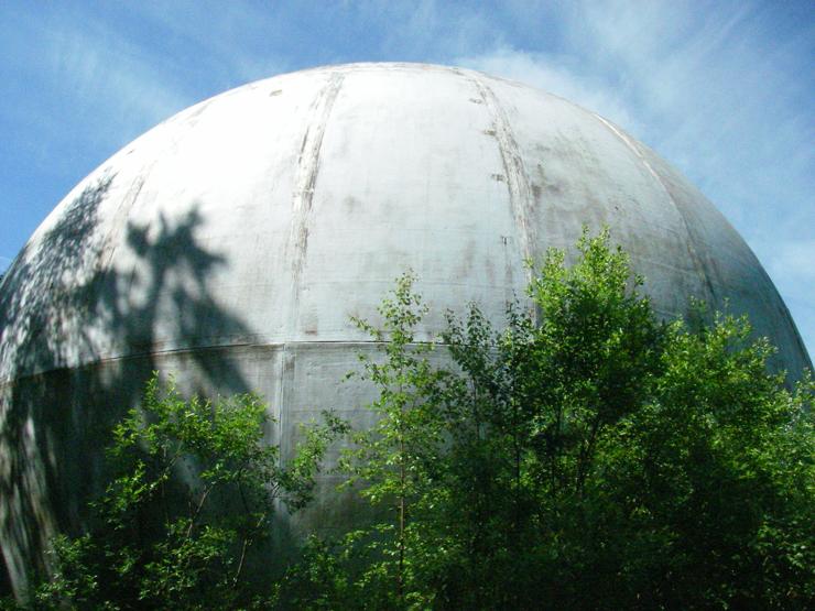 strange ball inside woods in Russia 6