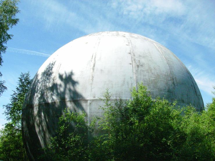 strange ball inside woods in Russia 7