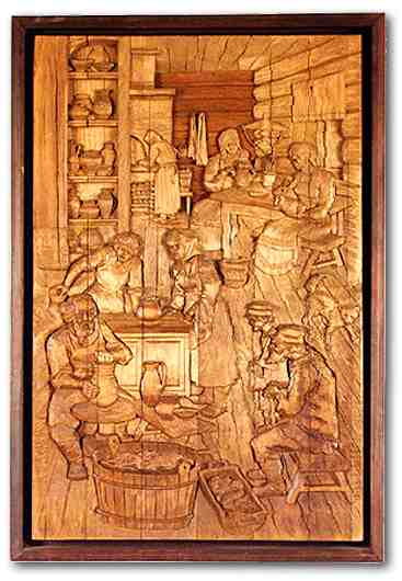 Russian wood carving 11