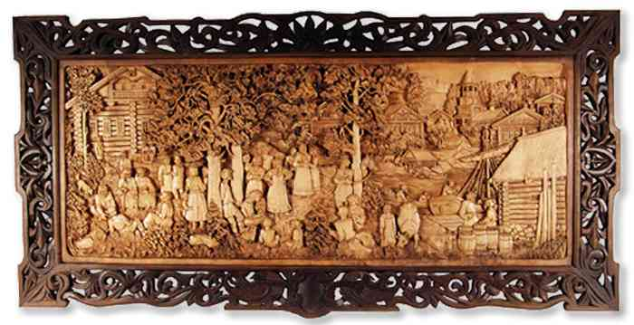 Russian wood carving 3