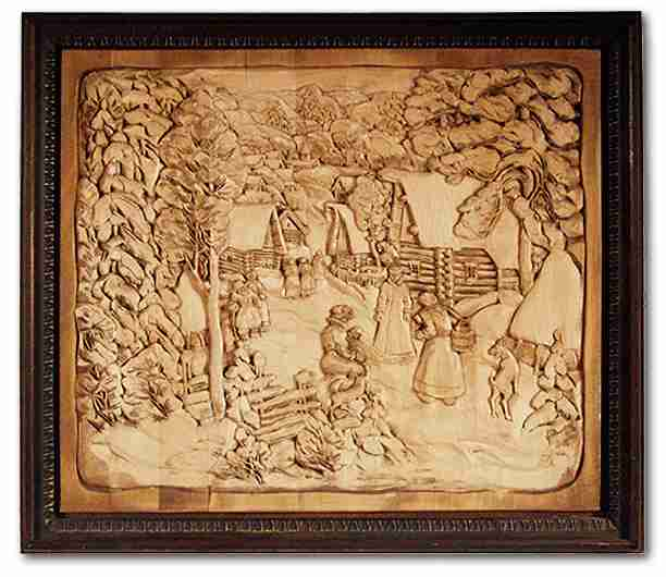 Russian wood carving 35