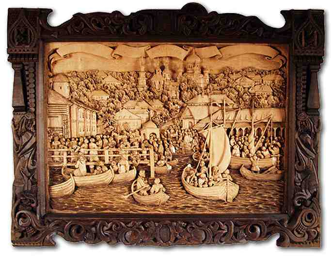 Russian wood carving 36
