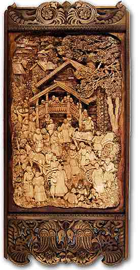 Russian wood carving 9