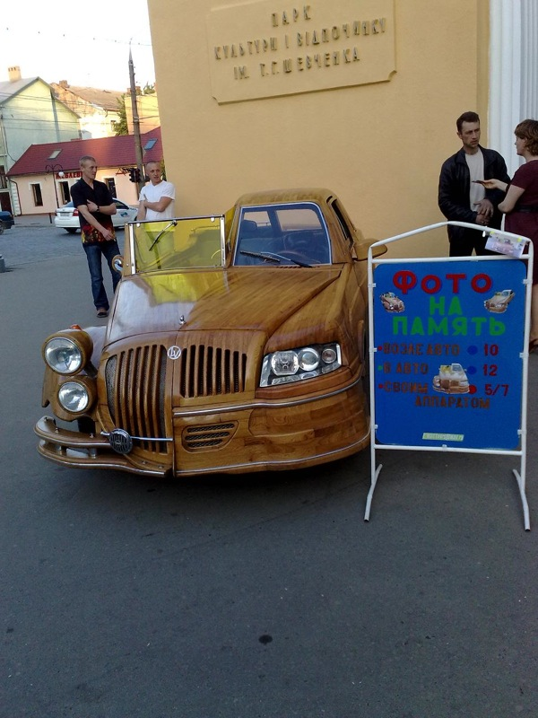 Russian car of wood