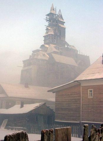 wooden skyscraper, Arkhangelsk, Russia