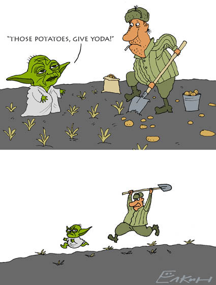 Russian yoda drawings 1