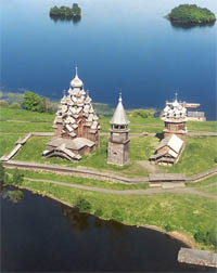 Wooden churches in Kizhi built without nails