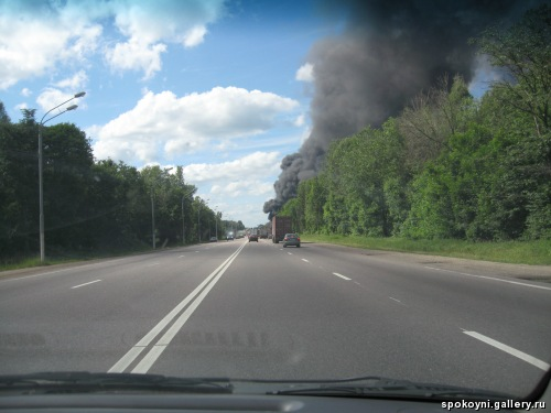 Car crash between Moscow and St. Petersburg