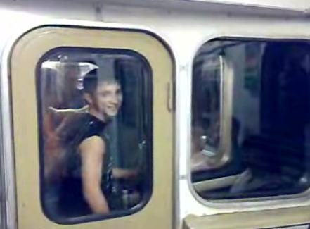 Train Surfing in Moscow Metro