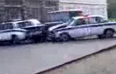 Mercedes G Klasse smaesh Russian Police cars