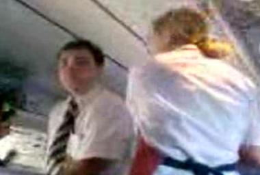drunk Russian cabin crew