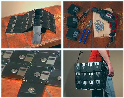 floppy disc bag