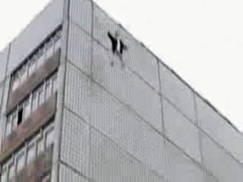 Russian guy jumps from the building