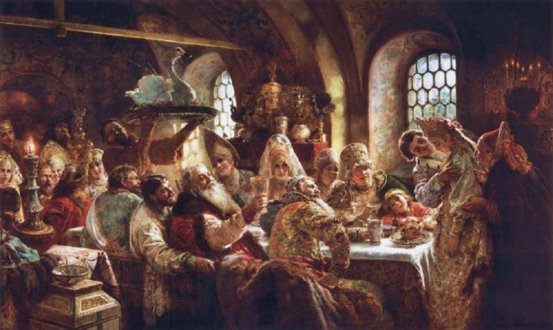konstantin-makovsky-a-boyar-wedding-feast-in-the-17th-century-1883
