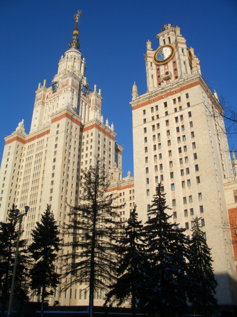 Lomonosov moscow state university is the tallest educational