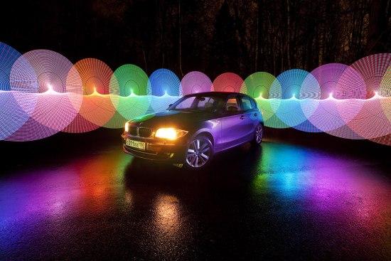 Light saber photo-trick