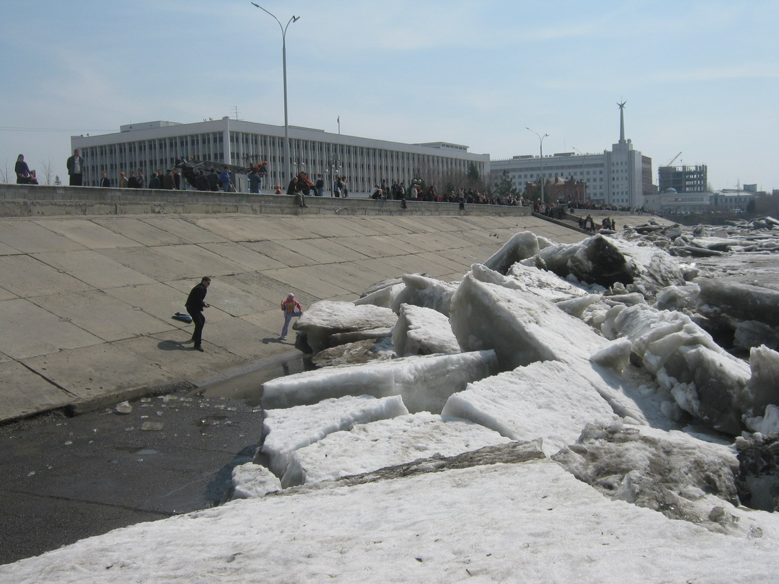 Ice Drift On The Tom River