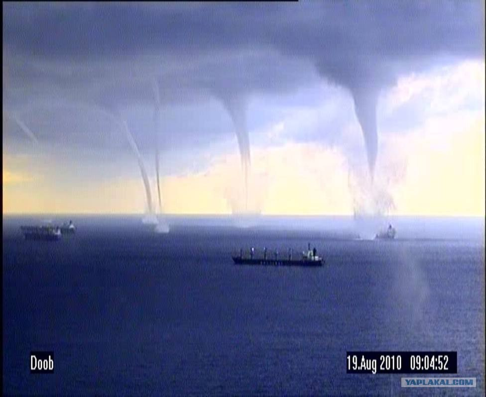 Striking Waterspout in Novorossiysk
