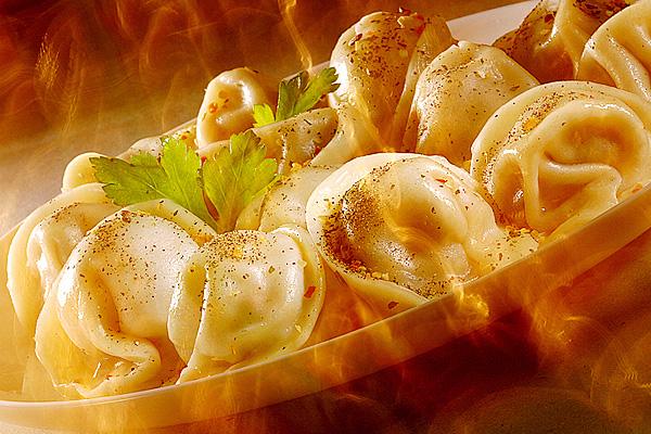 Traditional Russian Cuisine - Meat Dumplings