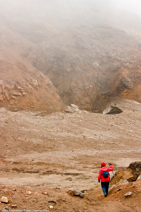 Exploring Fumaroles In Kamchatka