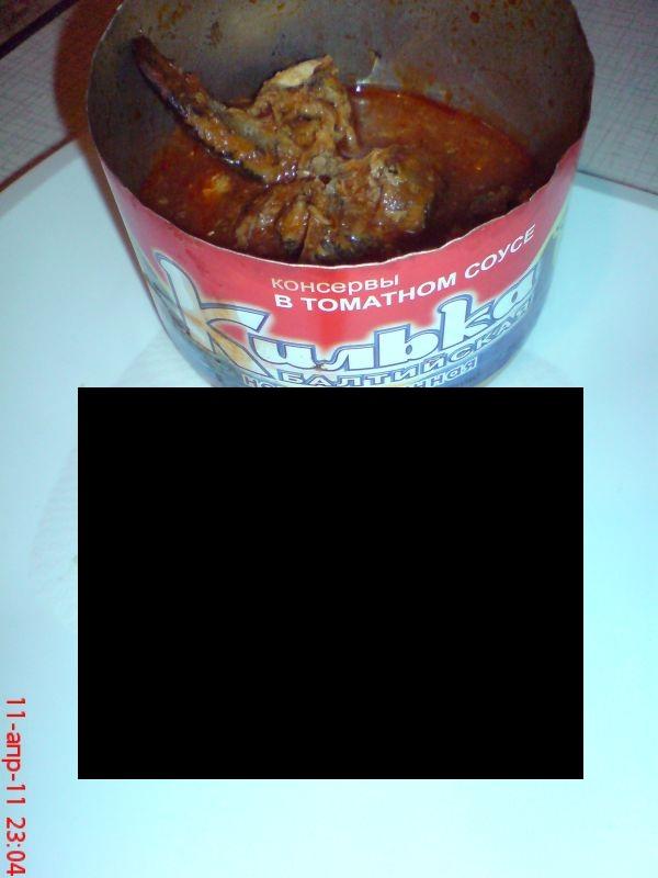 Mmmm, Sprats In Tomato Sauce...