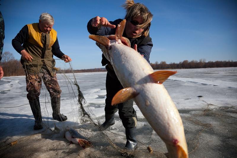 Winter Fishing In Russia