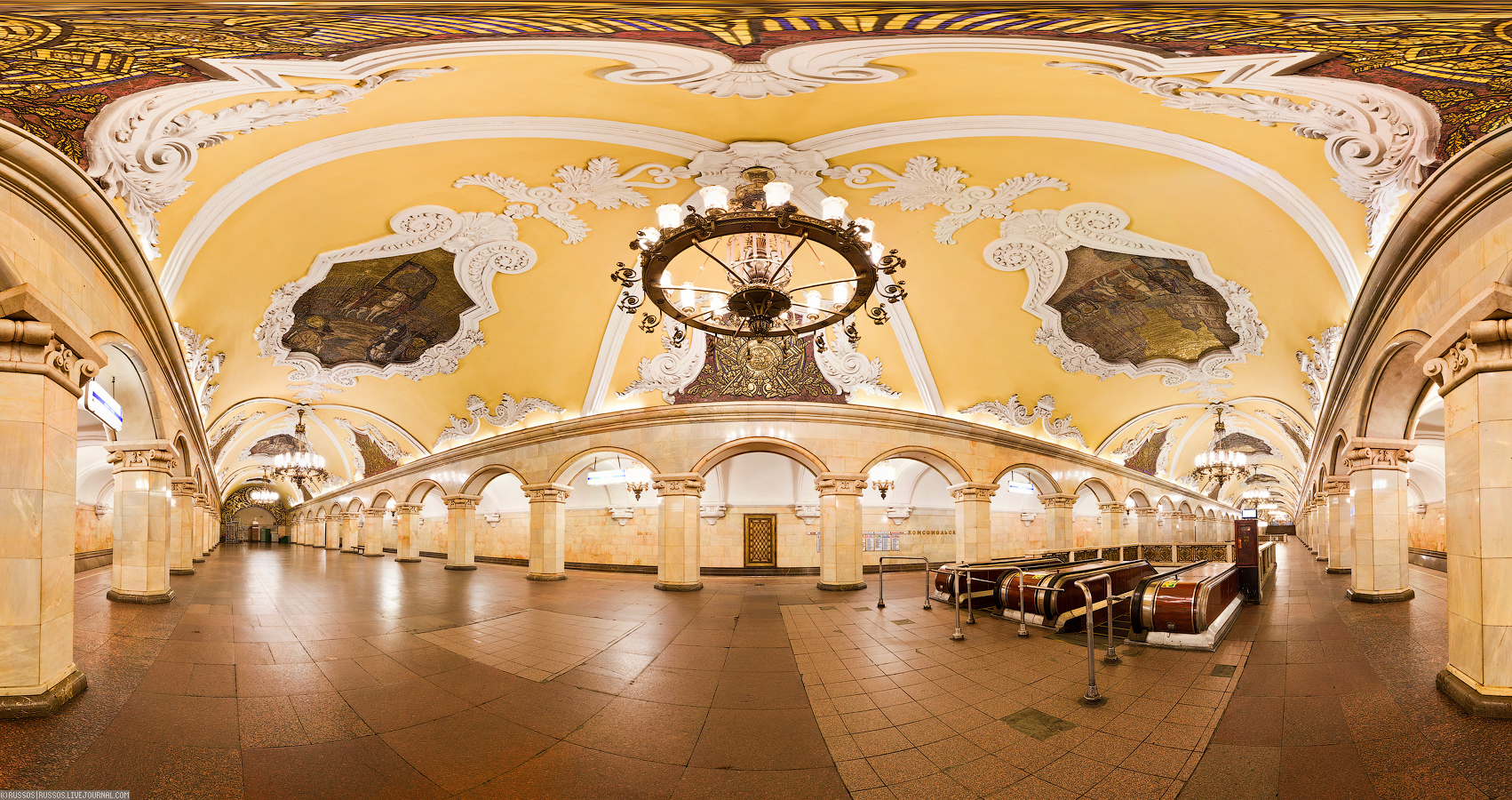 Panoramic Views Of The Moscow Metro English Russia