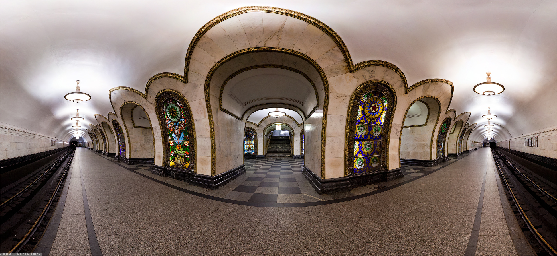 Panoramic Views Of The Moscow Metro