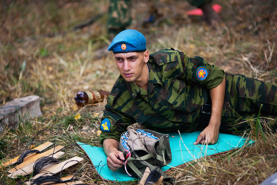 One Day of an Airborne Forces Soldier