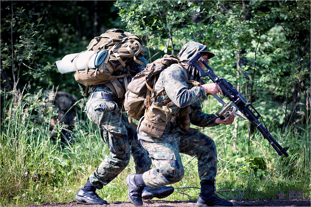 Training Session Of An Elite Military Team