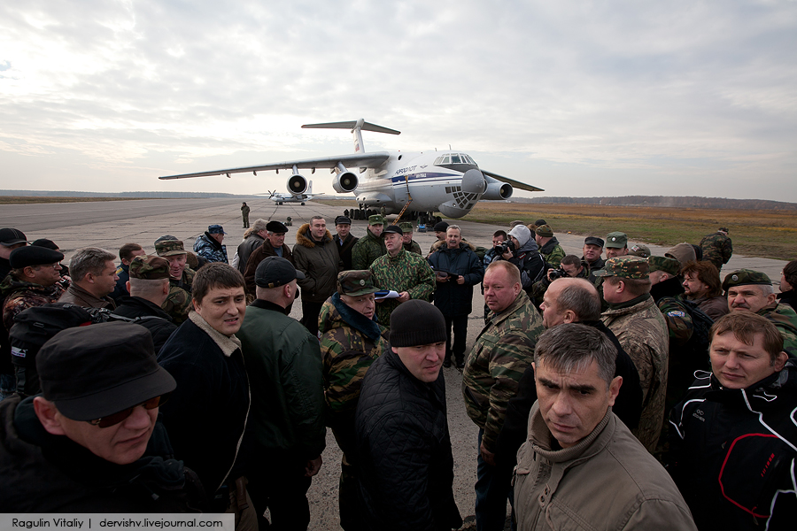 Congratulating Soldiers In Chechnya